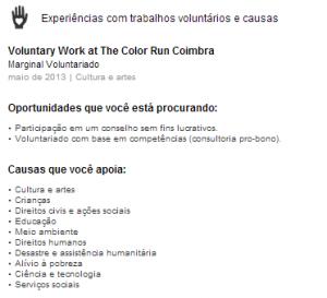 oportunidades de voluntariado | Experiência com trabalho voluntário