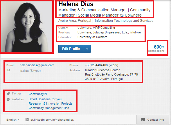 Otimizar o perfil do LinkedIn