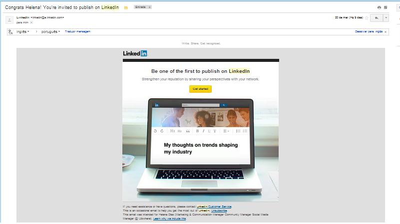 Publicar artigos no LinkedIn