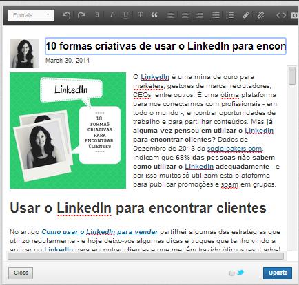 Publicar artigos no LinkedIn | Como editar artigos no LinkedIn