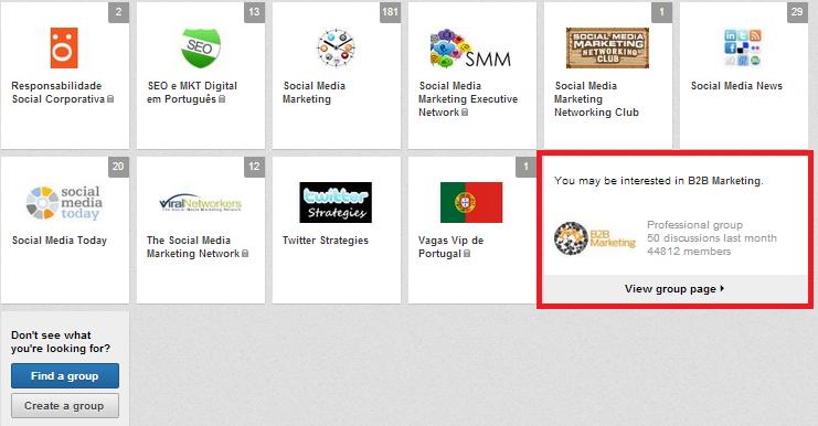 Melhorar a rede de contactos com os Grupos do LinkedIn | Grupos que podem ser do seu interesse