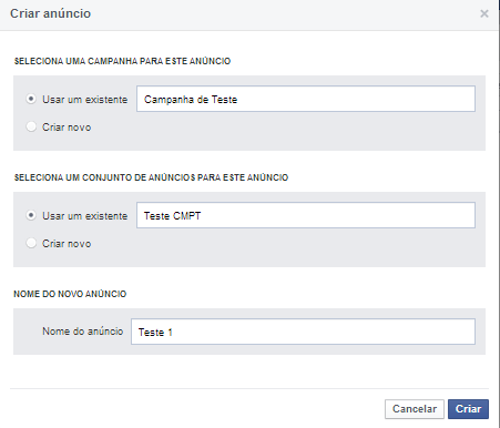 Como criar anúncios no Facebook | Criar novo anúncio