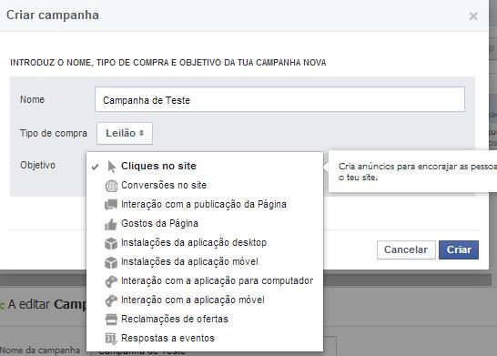 Como criar anúncios no Facebook | Definir os objetivos das campanhas do Facebook