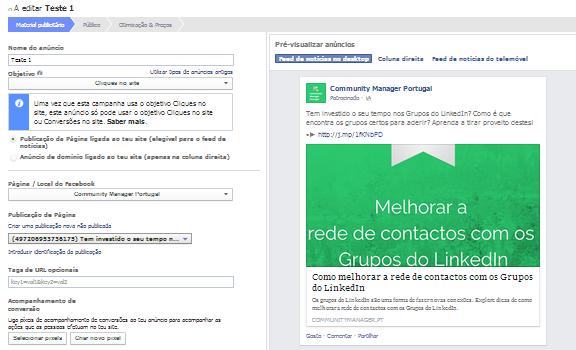 Como criar anúncios no Facebook | Editar anúncio
