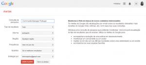 Melhorar a gestão de marketing digital   Alertas do Google