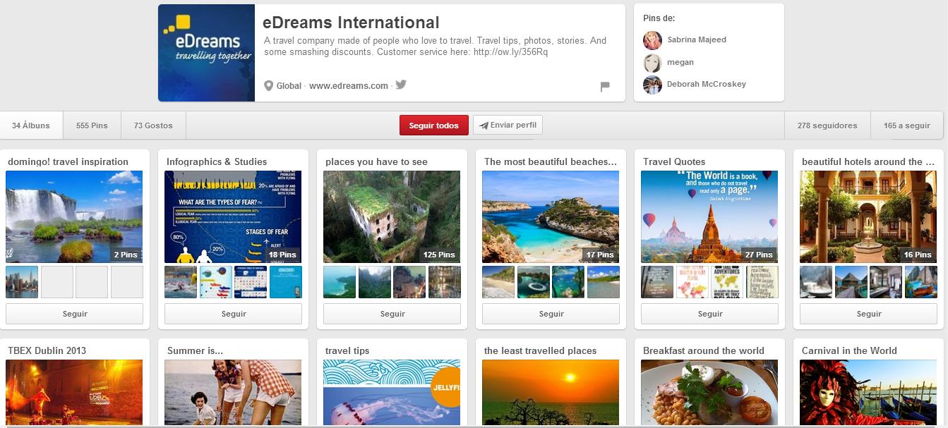 Marketing Digital e Redes Sociais para o Turismo - Pinterest para o Turismo