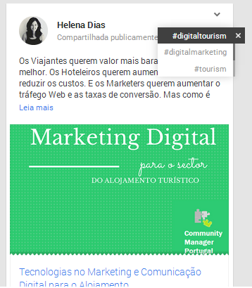 Usar o Google Plus para Empresas | Hashtags no Google Plus