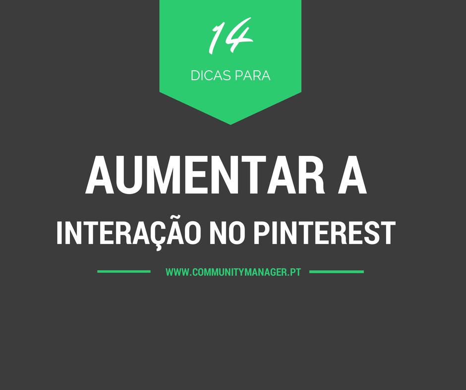 Aumentar a interação no Pinterest