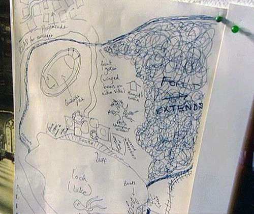 Visual Storytelling - J.K. Rowlling Mapa de Hogwarts