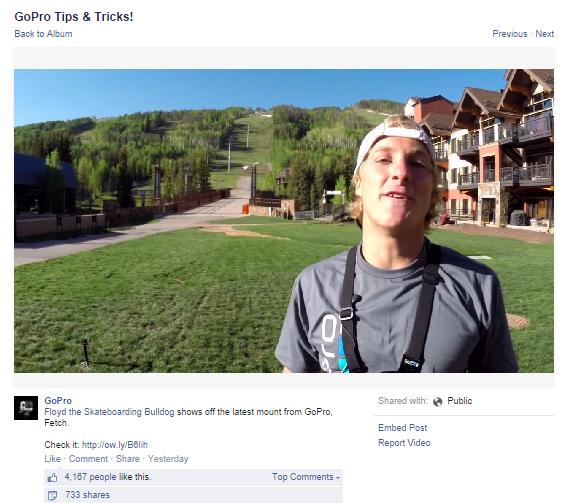 A GoPro publica regularmente vídeos com Dicas e Truques de como os fãs podem usar os seus produtos.