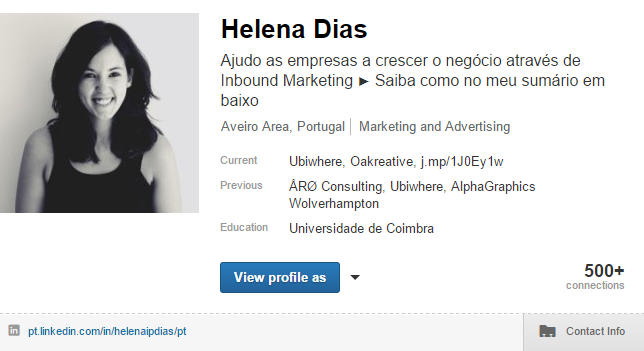 4 formas de usar o LinkedIn como Ferramenta de Marketing - Título do Perfil do LinkedIn