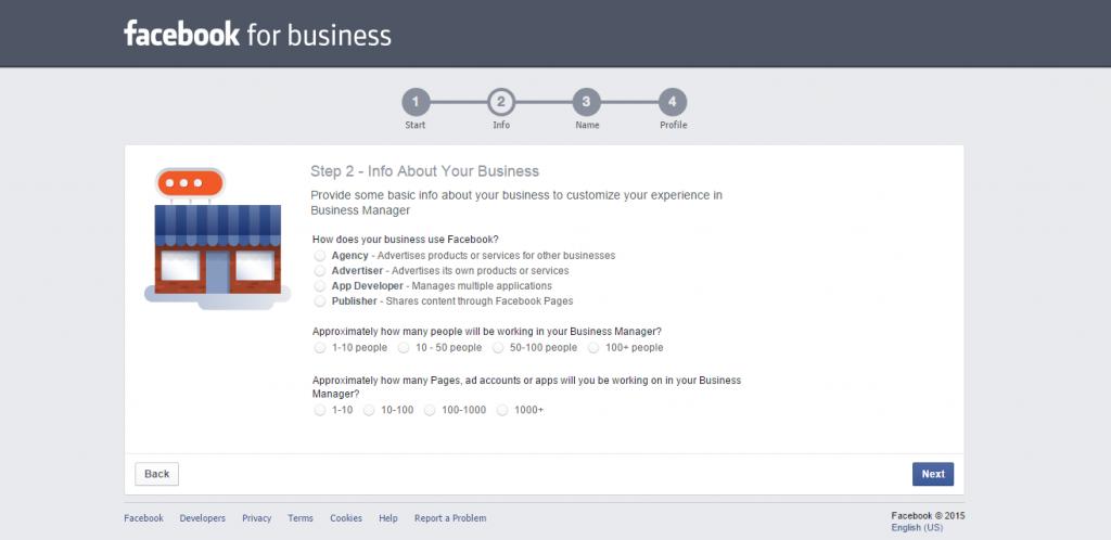 Inscrição no Facebook Business Manager