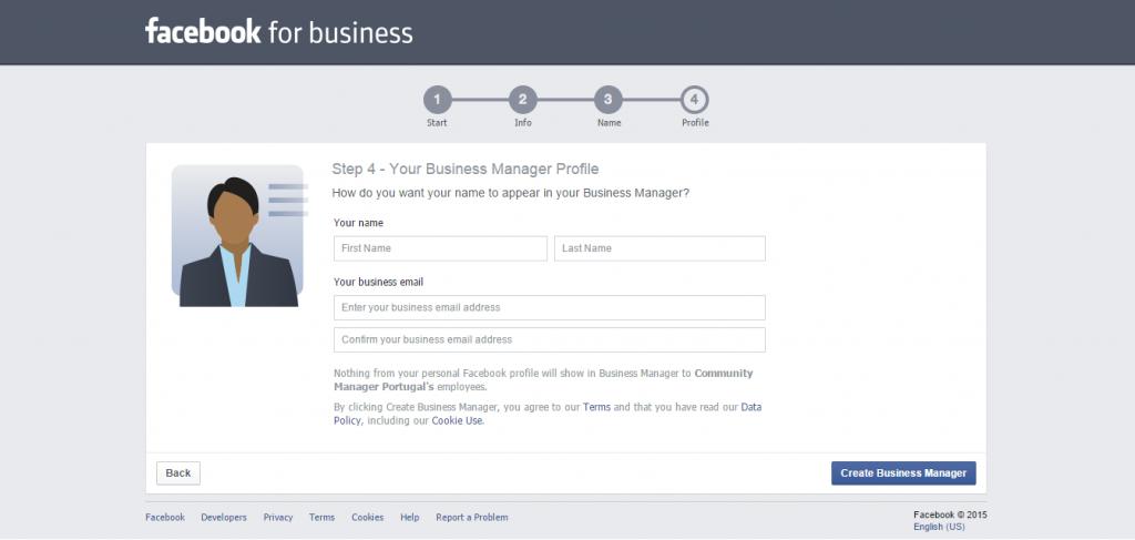 Inscrição no Facebook Business Manager2