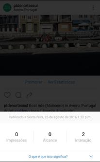 Perfil Professional do Instagram - Estatísticas das Publicações do Instagram