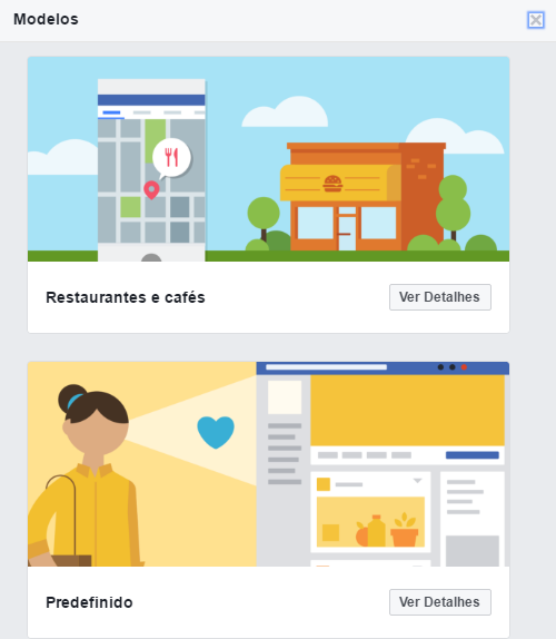 Templates de Páginas do Facebook
