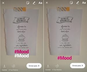 Como usar o Instagram Stories como um Pro - Adicionar sombras ao texto nas Instagram Stories