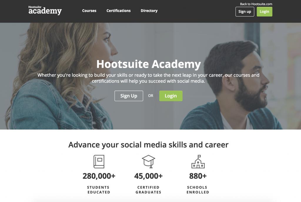 Ensinar sobre métricas de social media - Hootsuite Academy